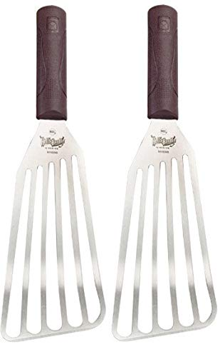 Mercer Culinary Hell's Handle Large Fish Turner/Spatula, 4 Inch x 9 Inch - Pack of 2