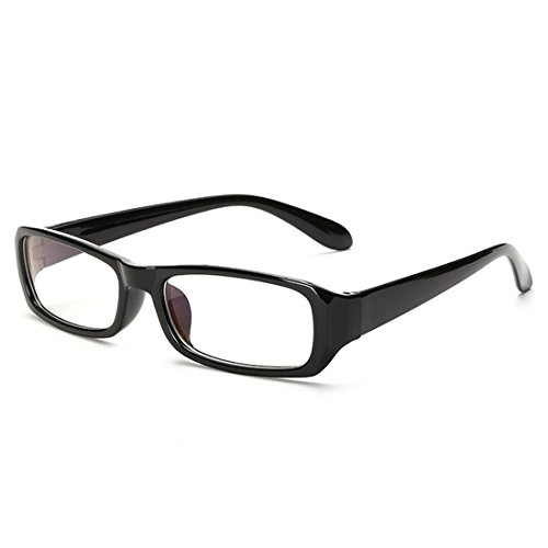 D.King Vintage Inspired Classic Rectangle Glasses Frame Eyewear Clear Lens - Glasses Black Rectangle