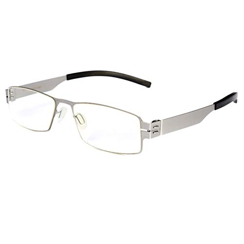 CAOXN 2019 New Blue Blocking Ladies Men's Reading Glasses, Single Vision TR90 Glasses Legs Magnifying Glass Suitable for Watching Computer/Mobile Phone +1.0 to +3.0,Silver,+2.0