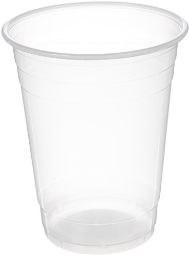 AmazonBasics Plastic Cups, Translucent, 16 Ounce, Pack of 100