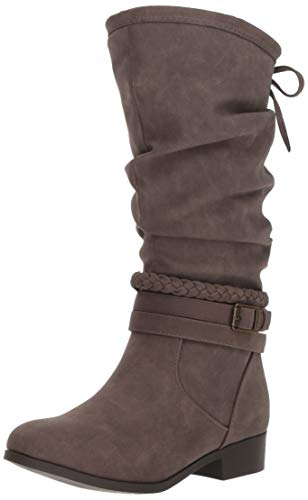 Nine West Girls' ALTAH Knee High Boot, Taupe, M130 M US Little Kid (High Heels With Bows On The Side)
