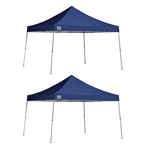 Quik-Shade-12-x-12-Instant-Straight-Leg-Pop-Up-Outdoor-Canopy-Blue-2-Pack