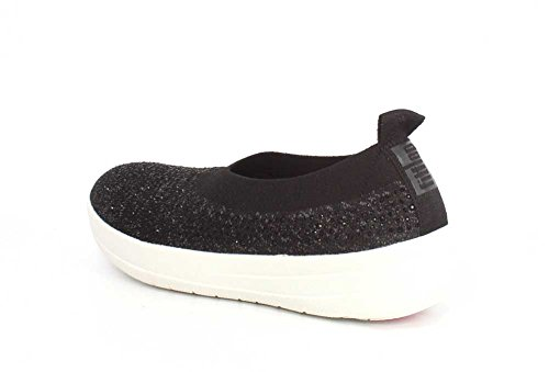Soft Slip Uberknit Women's Shoes FitFlop on Black Grey xRUSYwqS