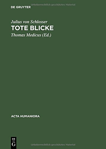 Tote Blicke (Acta humaniora) (German Edition)