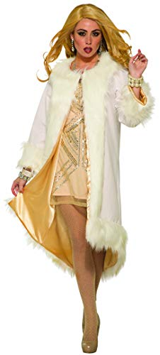 Forum Novelties 81120 Faux Fur Coat-White & Gold, Standard]()