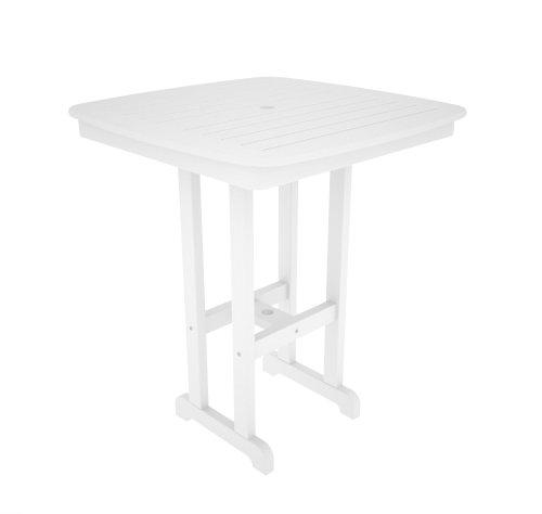Cheap POLYWOOD NCBT37WH Nautical Bar Table, 37-Inch, White