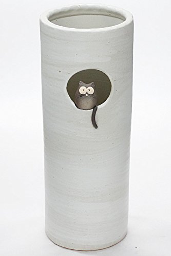 小窓黒ねこ傘立 信楽焼 陶器 傘立 B01N9EFG9F