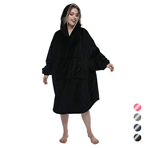Bath Legs Birthday (A plus life Sherpa Sweatshirt Blanket with Large Sleeves, A Giant Warm Hood and A Roomy Front Pocket, Super Soft Warm Blanket Hoodie for Adult Women and Men 4 Color)