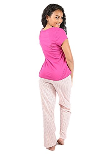 Ex Highstreet - Pijama - para mujer Pink With Love Hearts