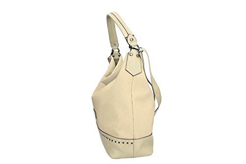 Borsa donna a spalla con tracolla PIERRE CARDIN beige con apertura zip VN1835