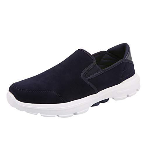 QueenMMMen's Bahama Vent PFG Boat Shoe, Breathable Comfortable Summer Lazy Men Shoes Blue ()