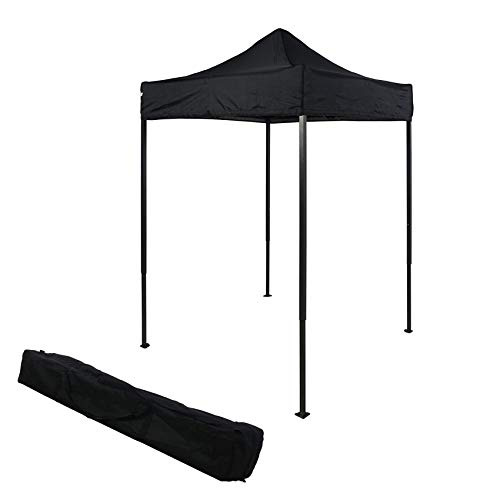 OTLIVE 5'x5' Canopy Tent Commercial Event Easy Up Pop Up Adjustable Portable Tent w/Carry Bag (Black)