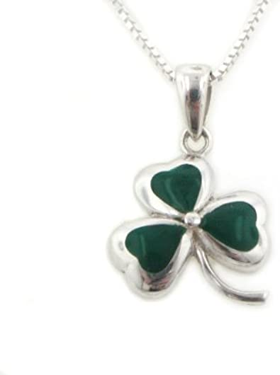 Lucky Irish Shamrock 3-Leaf Clover 925 solide Pendentif en argent sterling 6 G