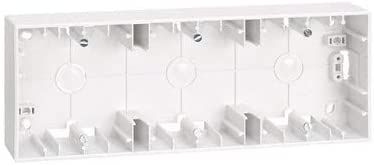 Caja de superficie para 3 elementos Simon 27 Blanco