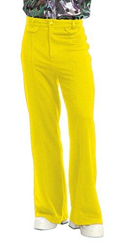 Charades Men's Disco Pants, Yellow, 40 -