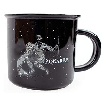 6cc978d0b5c Stargazer AQUARIUS Astrology Camp Mugs by Creature Cups | Ceramic Horoscope  13.5 Ounce Cups with Traits Revealed Inside | Birthday Constellation Signs  ...
