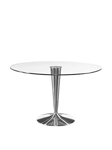 [Bassett Mirror Concoe Round Dining Base, 48 by 48-Inch, Chrome] (Bassett Dining Room Furniture)