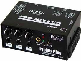 Rolls MX54s Pro Mix Plus 3 Channel Mic Mixer by rolls
