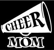 [Cheer Mom Cheerleading Gymnastics Sports Mom Vinyl Decal Sticker|WHITE|Cars Trucks Vans SUV Laptops Wall Art|5