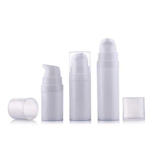 6Pcs 5ml/10ml/15ml White Empty Portable Refillable High-g...