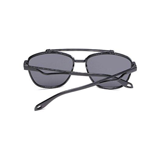 de en noir de couleur PC soleil soleil mode unisexe GAOLIXIA lunettes Yellow de option Lunettes cadres couleur multi film Saqgnwt