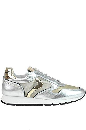 Voile Blanche Damen MCGLCAK03047E Silber Leder Sneakers