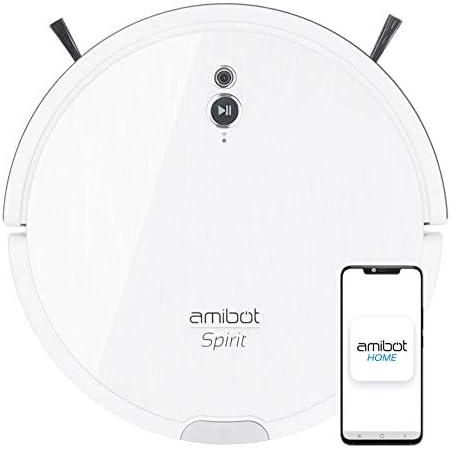 AMIBOT Spirit Motion avec cartographie caméra et mop vibrante - Robot aspirateur et Laveur cyclonique - Home Robots