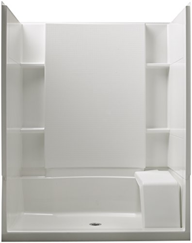 STERLING 72290106-0 Accord Seated 36-Inch x 60-Inch x 74-1/2-Inch Shower Kit with Age in Place Backers, White