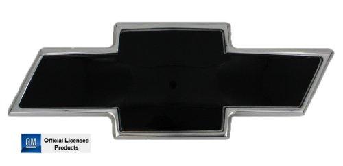 AMI 96293KP Chevy Bowtie Grille Emblem - Polished/Black Powder coat, 1 Pack Bow Tie Grille Emblem