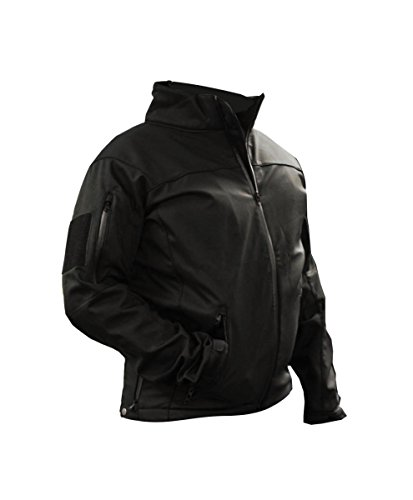 Law Enforcmenet Soft Shell Tactical Jacket with Fleece Lining, 3X-Large
