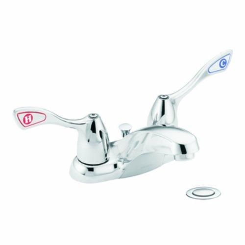 Chrome 2h Faucet Lavatory (Moen 8820 Commercial M-Bition 4-Inch Centerset Lavatory Faucet with Drain 1.5 gpm, Chrome)
