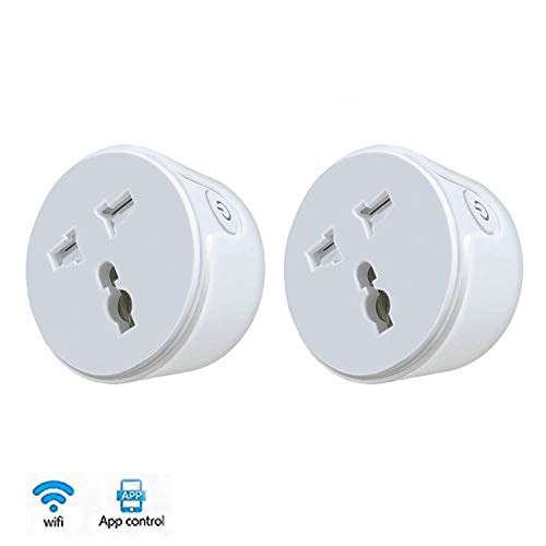 Housemate Smart Socket Outlet Socket Compatible with Alexa Google Assistant No Hub Required Control Your Devices from Anywhere (1, 10A Smart Socket)
