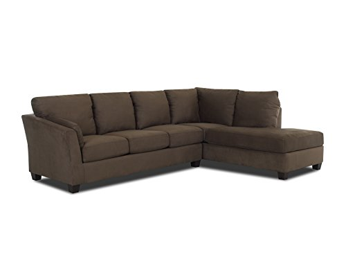 Klaussner E16 Drew Sectional Left Sofa/ Right Chaise, Earth