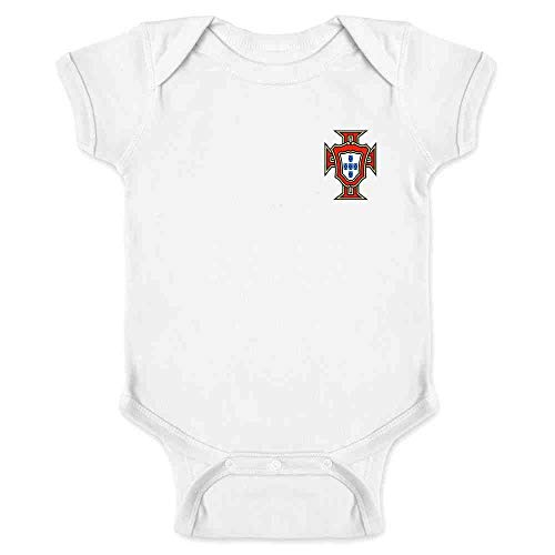 Portugal Soccer Retro National Team Football White 6M Infant Bodysuit (Replica Jersey Portugal)