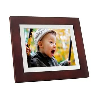 giinii gh 811p 8 inch digital picture frames brownblack with white mat