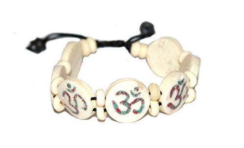 (Tibetan Yak Bone Medicine Wrist Mala Yoga Bracelet for Meditation)