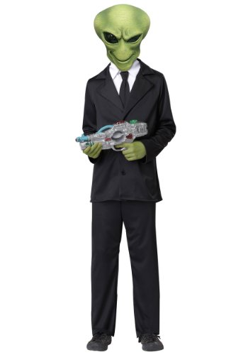 Aliens Halloween Costumes (California Costumes Alien Agent Child Costume, X-Large)