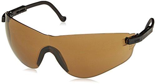 Uvex S4501X Falcon Safety Eyewear, Black Frame, Espresso UV Extreme Anti-Fog Lens