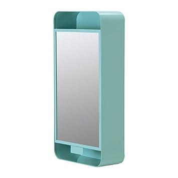 Ikea spiegelschrank  IKEA GUNNERN - Spiegelschrank 1 Tür, blau - 31x62 cm: Amazon.de ...
