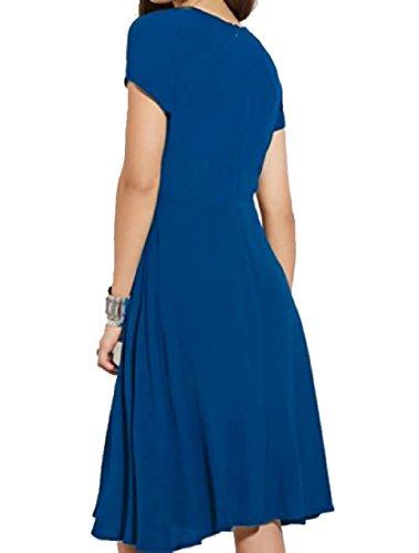 Cross Size Straps XL Vogue Navy Dresses Party Midi Plus Blue Dress Coolred Women IE55q
