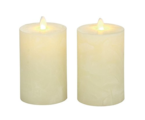Deco 79 54884 Flameless Candle with Remote Set of 2