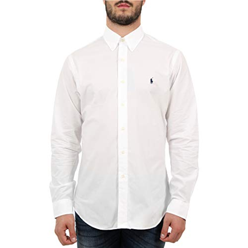 Lauren Ralph 710705269 Mod Blanc White Uomo Camicie rrqdgE
