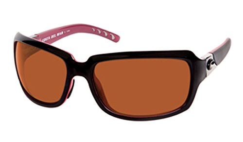 57f790e14f Image Unavailable. Image not available for. Color  Costa Del Mar Sunglasses  - Isabela- Glass   Frame  Black and Coral Lens