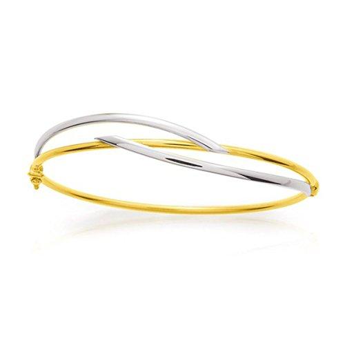 Ysora - Bracelet Jonc En Or Bicolore - deux ors