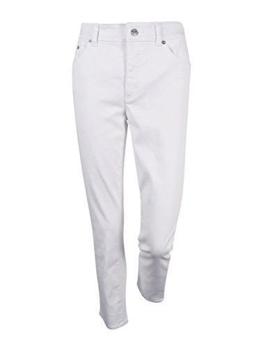 Lauren Ralph Lauren Women's Cropped Slim Leg Jeans (8, White) (Cropped Lauren Trousers Ralph)