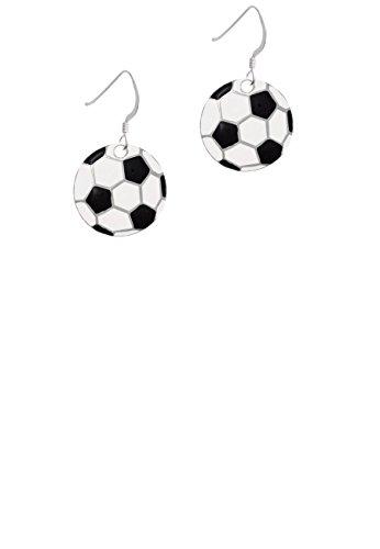 3/4' Carded (3/4'' Enamel Soccer ball - French Earrings)