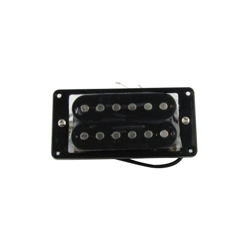 Musiclily 52MM Electric Guitar Humbucker Bridge Double Coil Pickup,Black