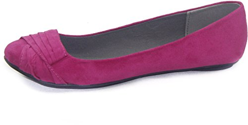 Kvinnor Qupid Tes-147x Kobolt Slip-on Ballerina Lägenheter Mode Skor Fuchsia