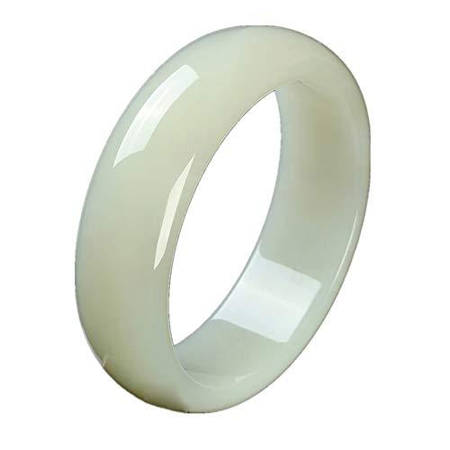 LLHTY Chinese Hetian Jade Jade Bangle Bracelet for Women Natural Jade Grade A White Hetian Jade Bangle Party Wedding Gift