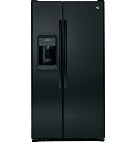 GE PZS23KGEBB Profile 23.3 Cu. Ft. Black Counter Depth Side-By-Side Refrigerator (Ge Profile Side By Side Counter Depth)